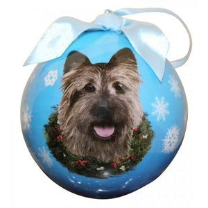 Cairn terrier ball Christmas ornaments