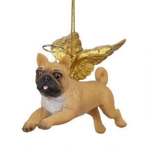 Pug Holiday Dog Angel Ornament