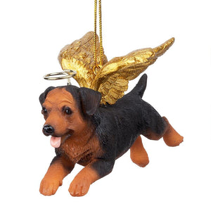 Rottweiler Holiday Dog Angel Ornament