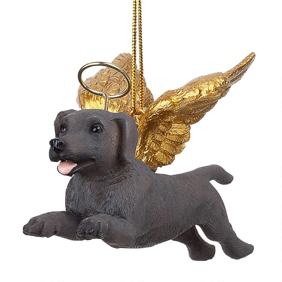 Weimaraner Holiday Dog Angel Ornament