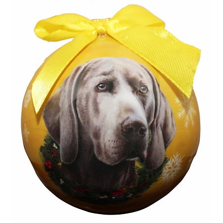 Weimaraner Christmas Ball Ornament