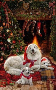 Great Pyrenees Holiday Towel