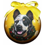 Australian Cattle dog Christmas Ball ornaments