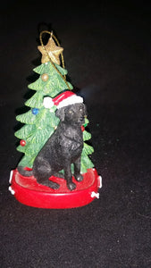 Black Lab Resin Ornament