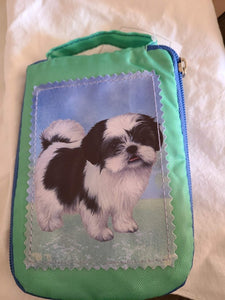 Dog breed foldable tote bags
