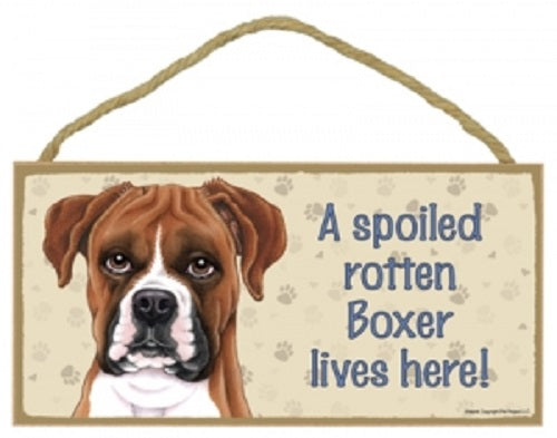 Boxer uncropped - a house is not a home Plaque
