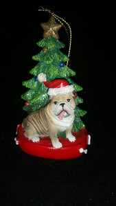 Bulldog Resin Ornament
