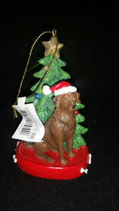 Chocolate Lab Resin Ornament