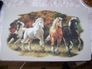 Horse placemats set of 4