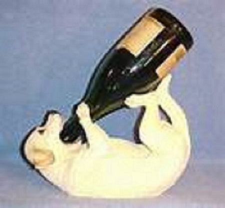 Yellow Lab wine holder