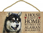 Alaskan Malamute- A house is not a home Plaque