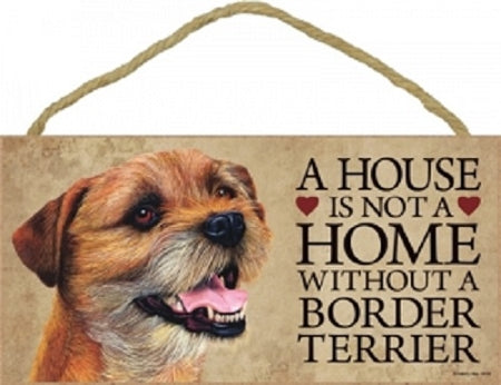 Border terrier- A house is not a home plaque