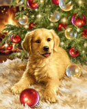 Golden Retriever puppy Holiday Towel