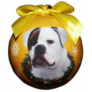 American Bulldog Christmas Ball Ornament