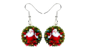 Santa Claus Earrings.