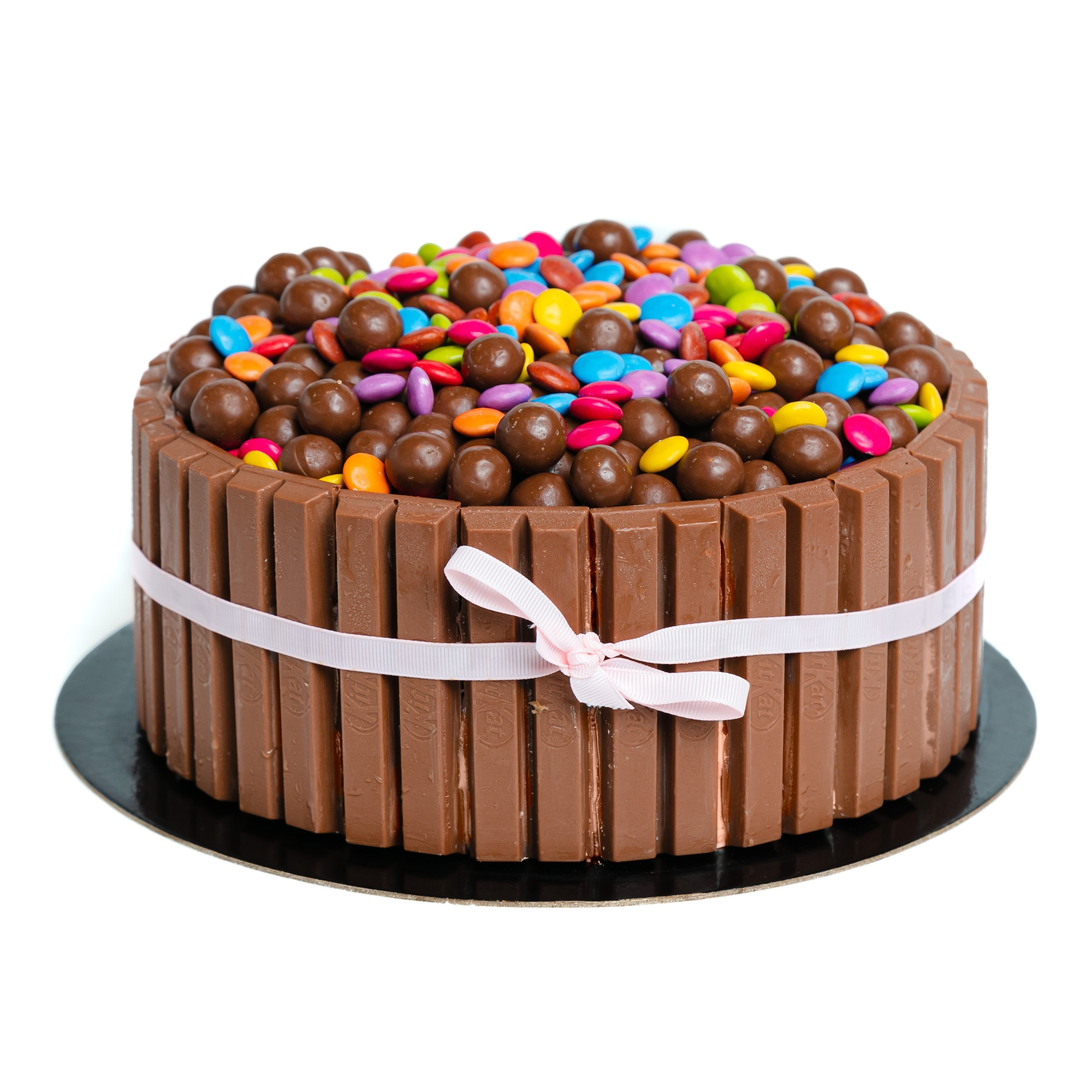 Kit Kat gelato cake with maltesers and smarties
