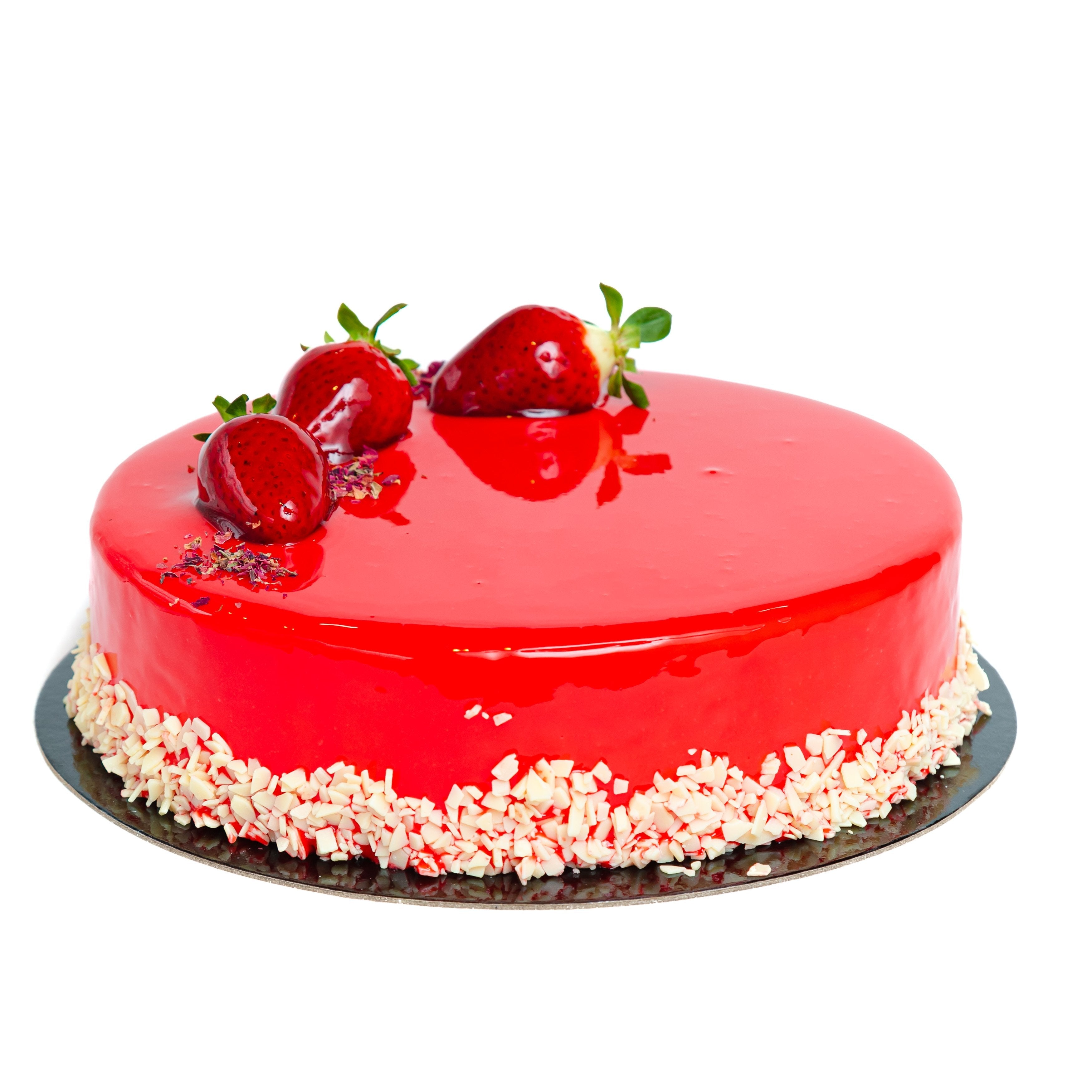 Strawberry Semifreddo Cake
