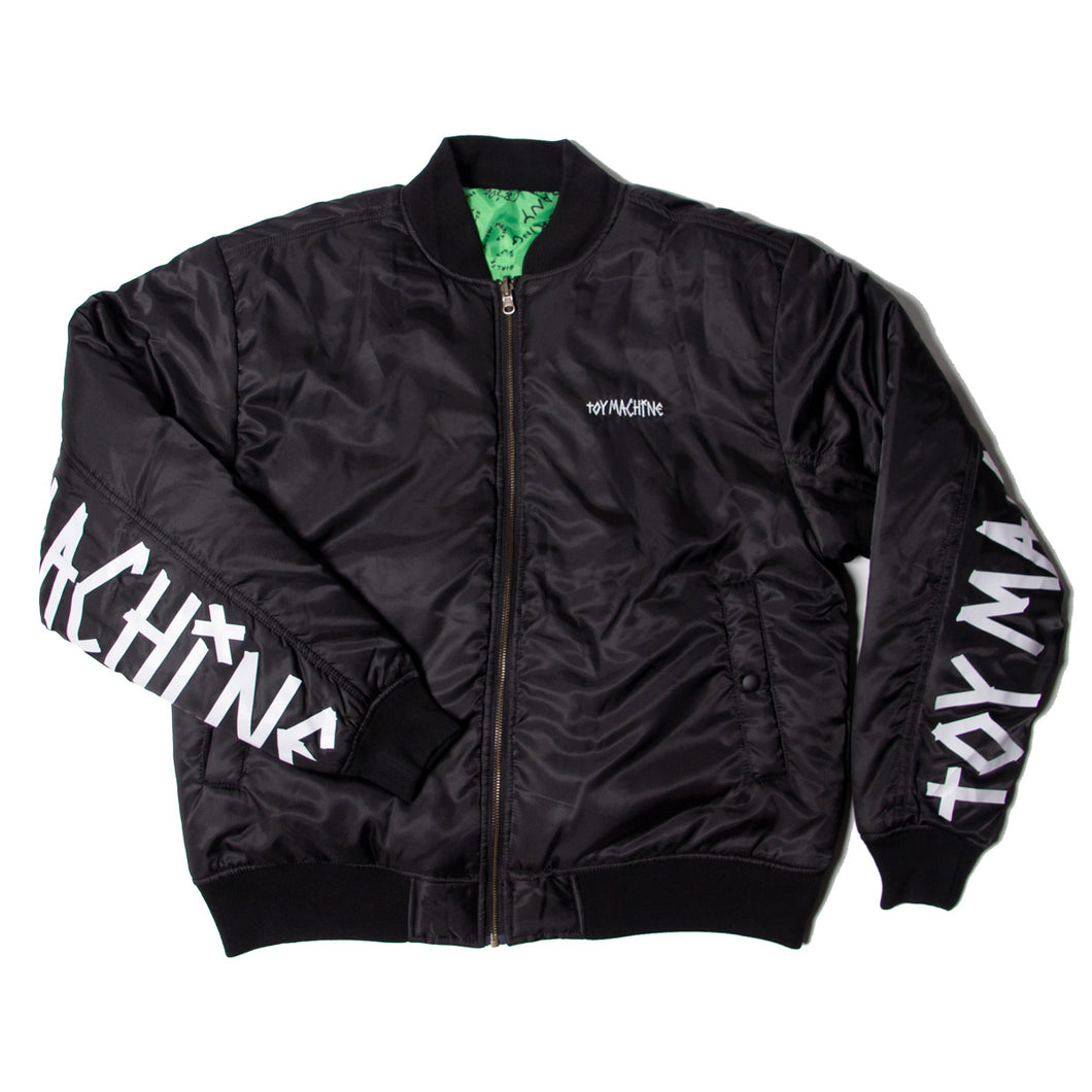 REVERSIBLE BOMBER JACKET -BLACK