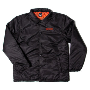 INSULATED COACH JACKET -BLACK-
