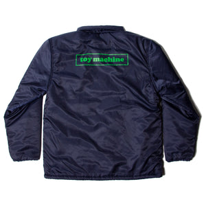 INSULATED COACH JACKET -NAVY-