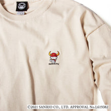 TOYMONSTER HELLO KITTY EMBROIDERY LONG TEE - BEIGE