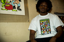 ED FACES IN CROWD SHORT SLEEVE TEE -WHITE-