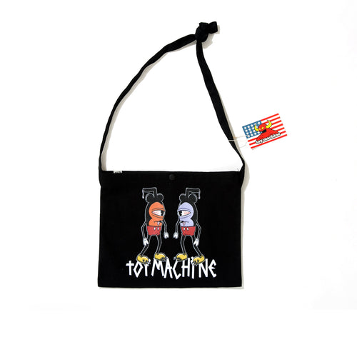 MOUSEKETTER 2 CANVAS SHOULDER BAG - BLACK