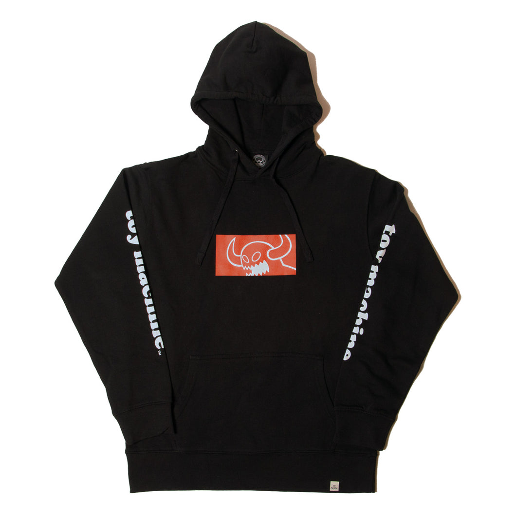 SQUARE MONSTER SWEAT PARKA - BLACK