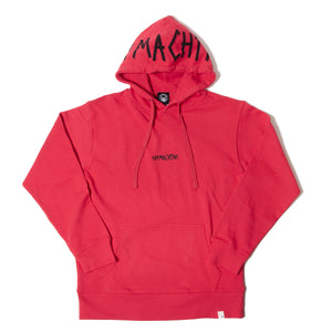 TAPE LOGO SWEAT PARKA - RED
