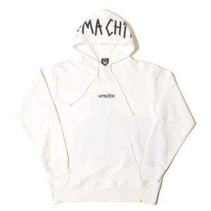 TAPE LOGO SWEAT PARKA - WHITE