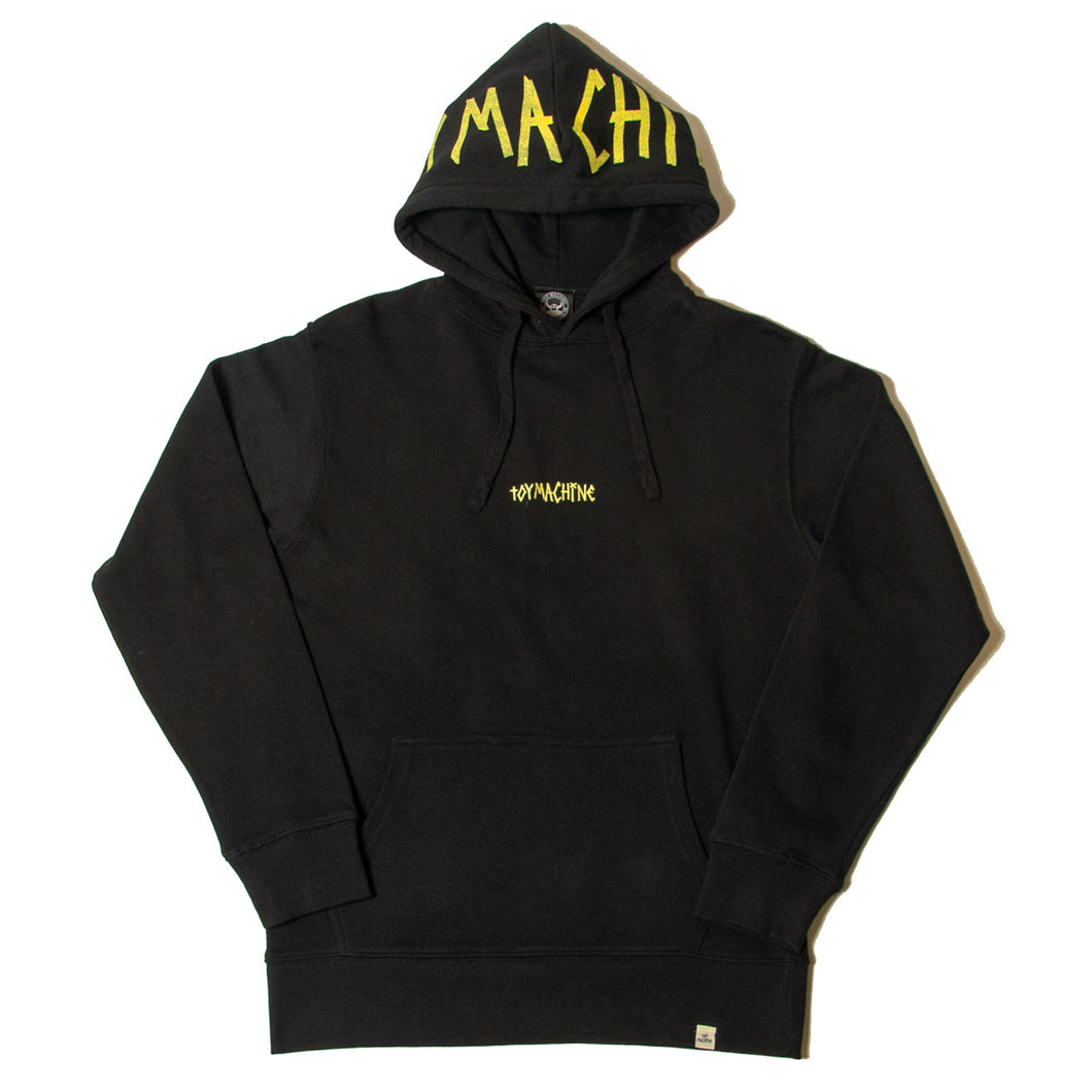 TAPE LOGO SWEAT PARKA - BLACK
