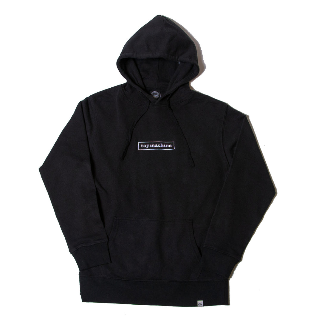 BOX LOGO EMBROIDERY SWEAT PARKA - BLACK
