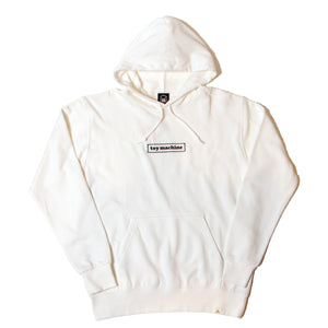 BOX LOGO EMBROIDERY SWEAT PARKA - WHITE