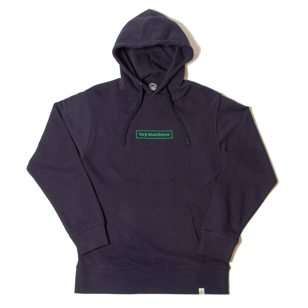 BOX LOGO EMBROIDERY SWEAT PARKA - NAVY