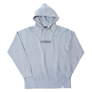 BOX LOGO EMBROIDERY SWEAT PARKA - GRAY