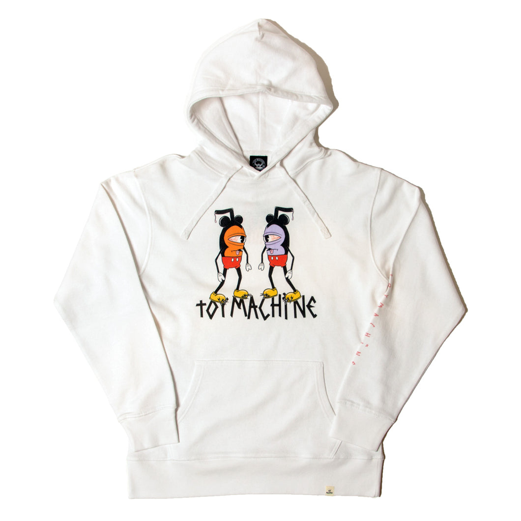 DOUBLE MOUSEKATER SWEAT PARKA - WHITE