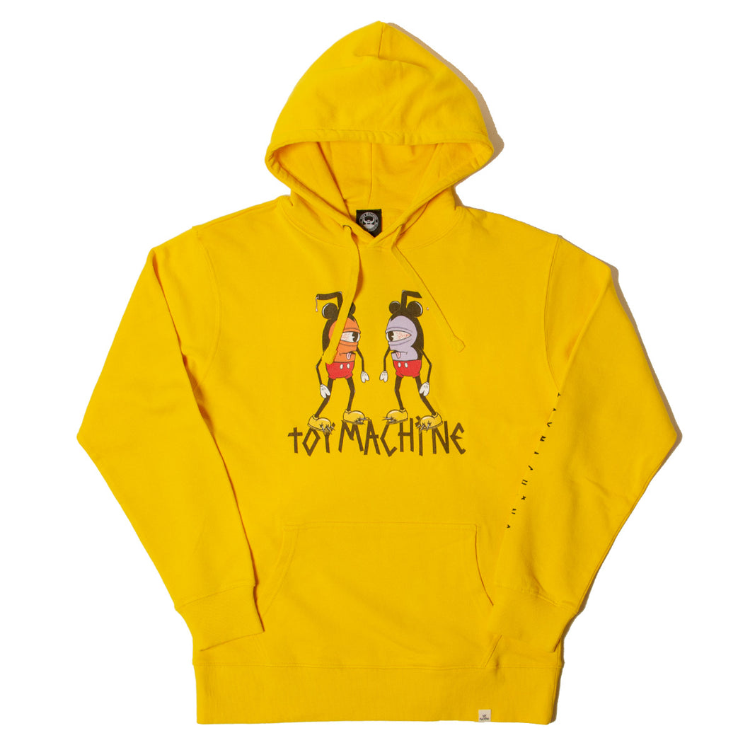 DOUBLE MOUSEKATER SWEAT PARKA - YELLOW
