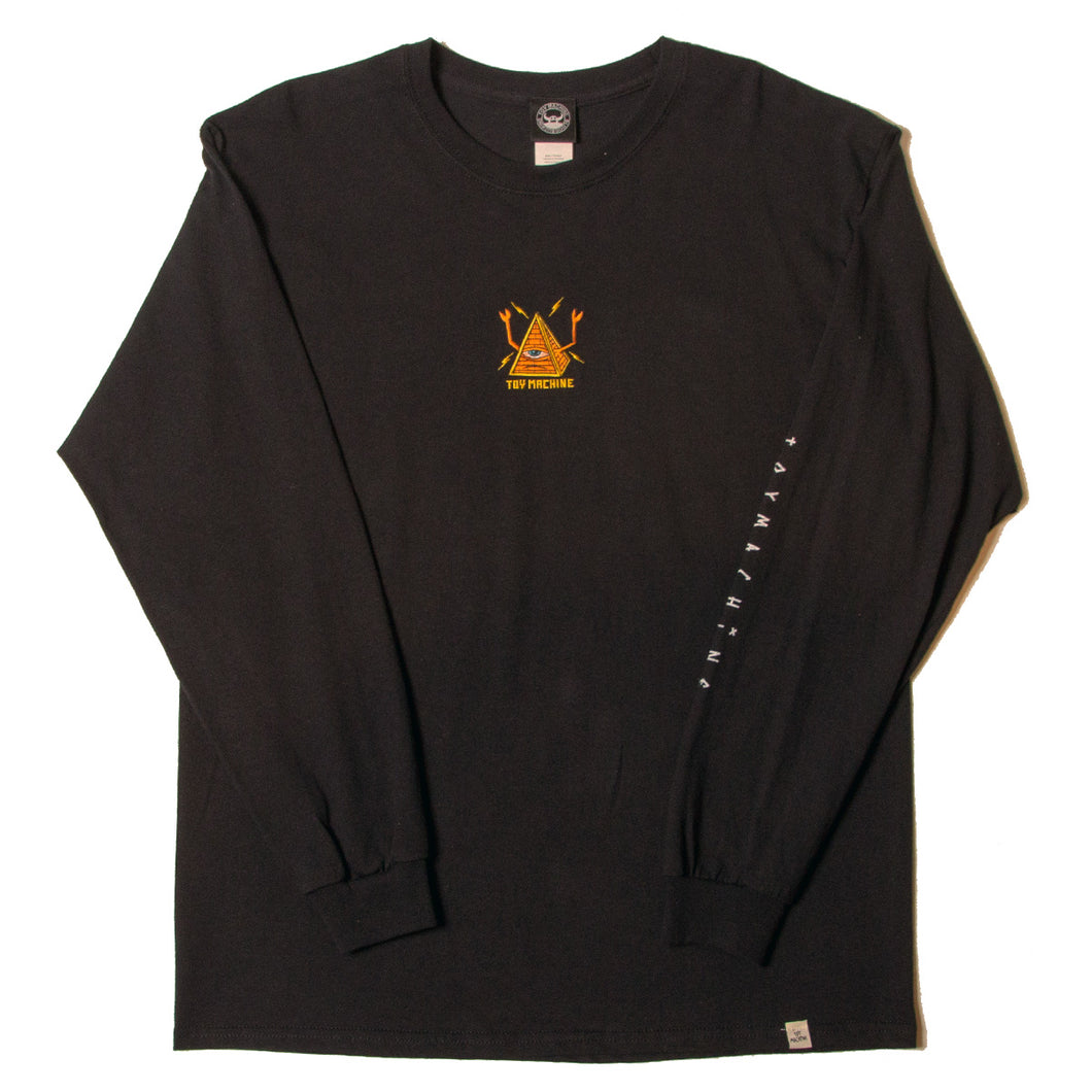 PYLAMID SECT LONG SLEEVE TEE - BLACK