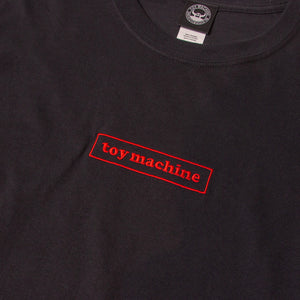 TOYMACHINE BOX LOGO LONG SLEEVE TEE - BLACK