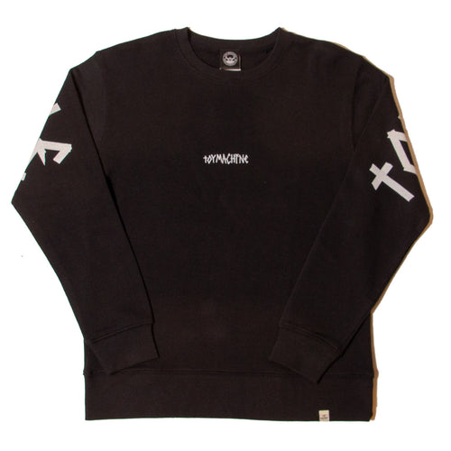 TAPE LOGO SWEAT CREW - BLACK