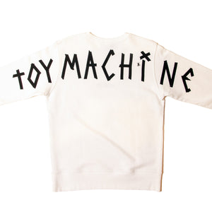 TAPE LOGO SWEAT CREW - WHITE
