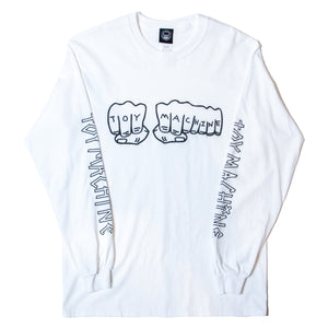 FIST LONG SLEEVE TEE - WHITE