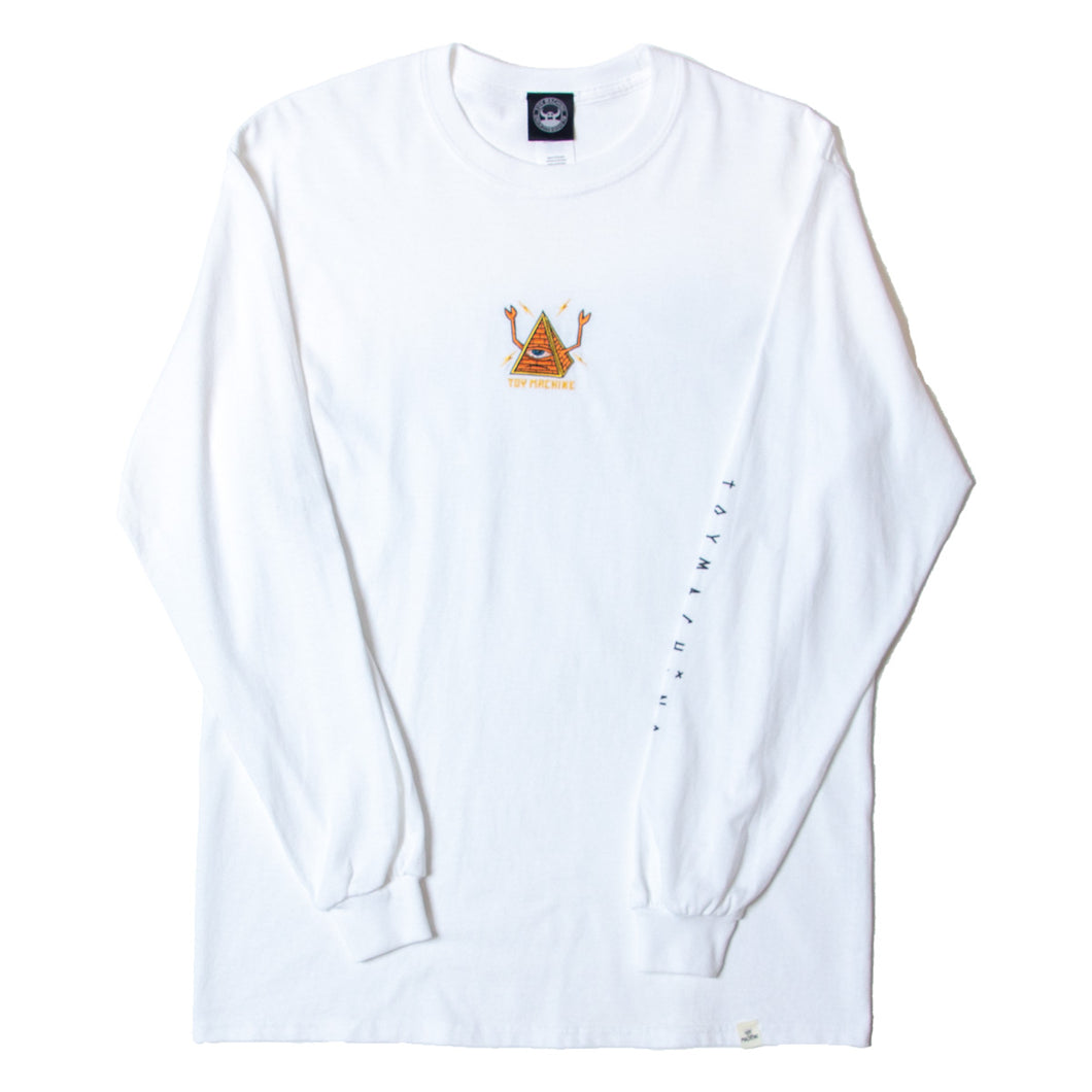 PYLAMID SECT LONG SLEEVE TEE - WHITE