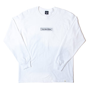 TOYMACHINE BOX LOGO LONG SLEEVE TEE - WHITE