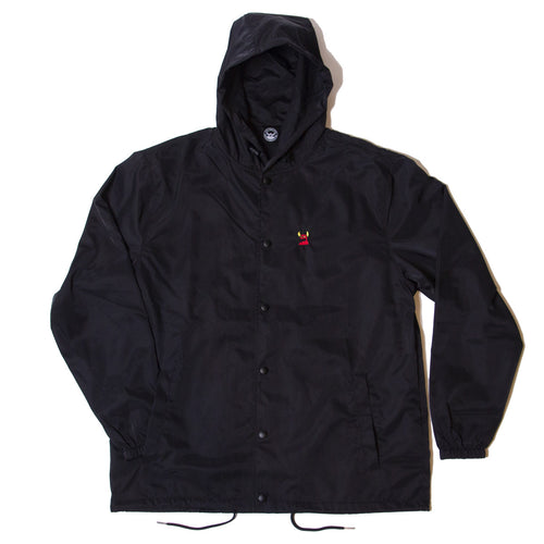 SKETCHY MONSTER COACH JACKET PARKA - BLACK