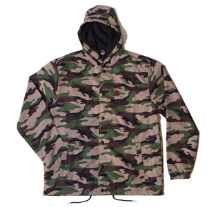 SKETCHY MONSTER COACH JACKET PARKA - CAMO