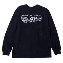 FIST BACK PRINT LS TEE - BLACK