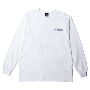 SECT SATFF BACK PRINT LS TEE - WHITE