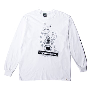 SECT ATTACK PRINT LS TEE - WHITE