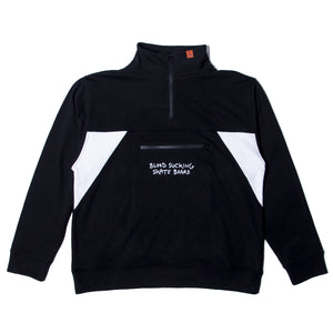 BLOOD SUCKING SWEAT HALF ZIP - BLACK
